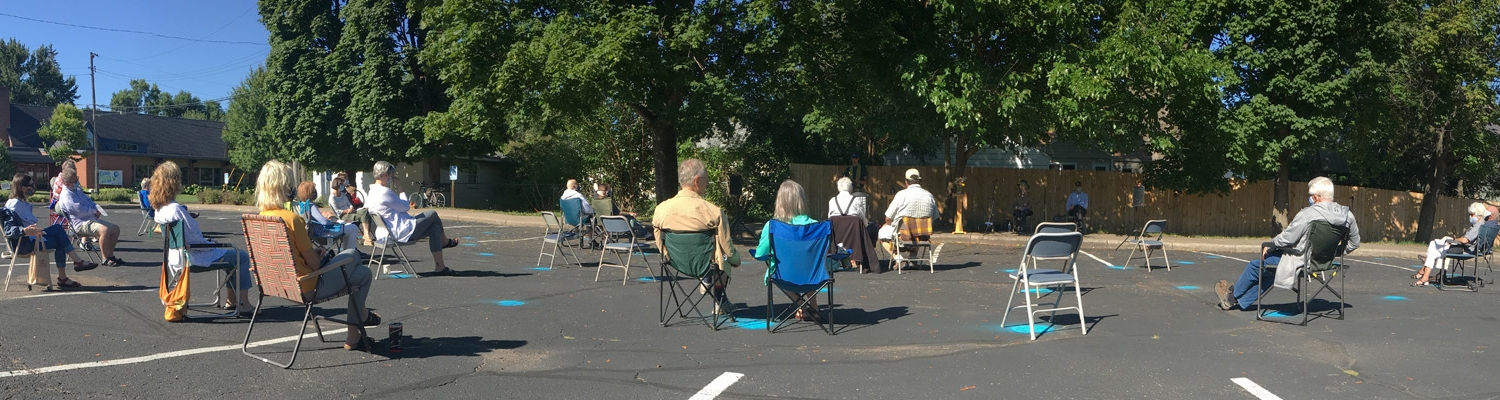 Worship in the parking lot